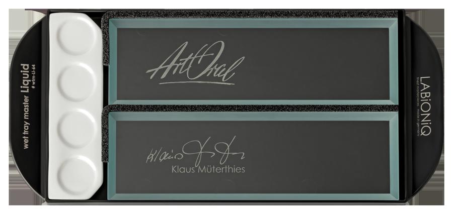 Linkshänder wet tray master Liquid Keramik-Anmischplatte Klaus Müterthies