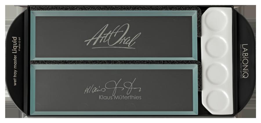 Rechtshänder wet tray master Liquid Keramik-Anmischplatte Klaus Müterthies